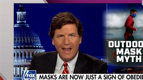 tucker carlson likens wearing  mask  exposing oneself