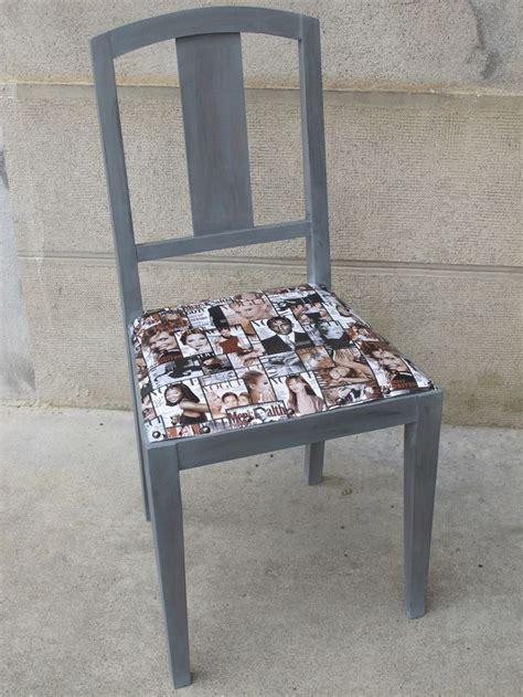 relooker chaise en paille rénover une vieille chaise avec du skaï