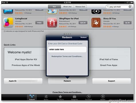 redeem code app apple ipad iphone itunes quick want ipod button launch open links under