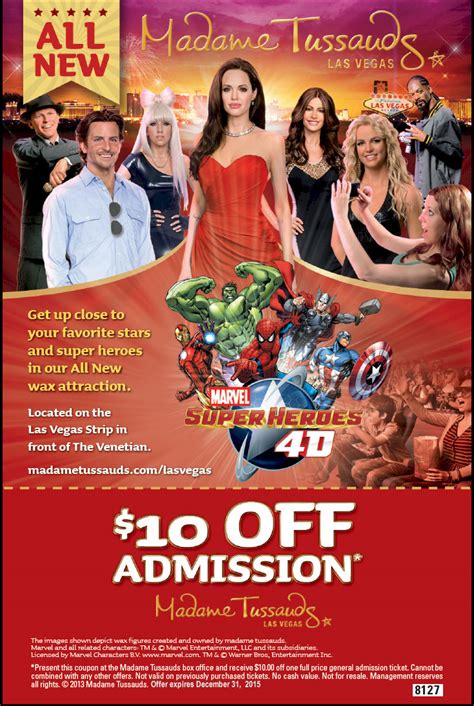 52392 Wax Museum Coupon Code by Madame Tussauds Tickets Offers Print Discount