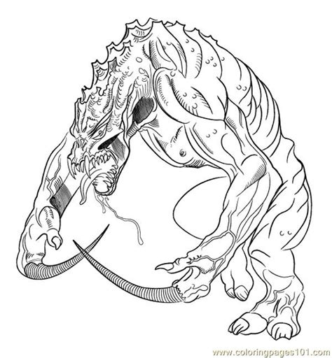 monsterlizard coloring page  lizard coloring pages