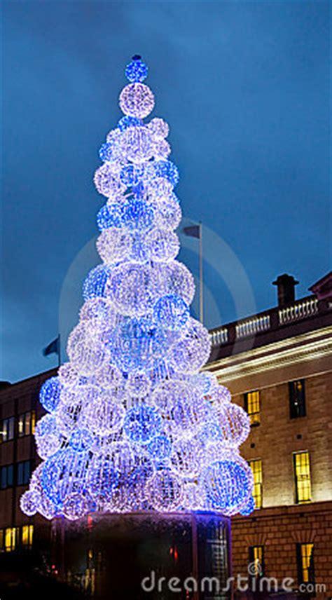 christmas tree  dublin city ireland royalty  stock