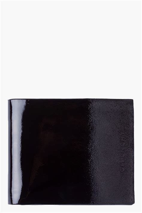 givenchy ombre patent leather wallet  black  men lyst
