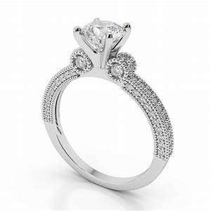 Antique platinum engagement ring settings wedding for Diamond wedding ring settings
