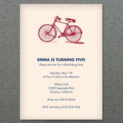invitation template red bicycle invitation