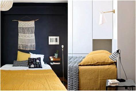peinture chambre bleu chambre jaune moutarde les coloris à associer