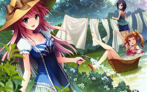 Happy Anime Wallpaper - wallpaper happy anime clothes washing 1920x1200 hd