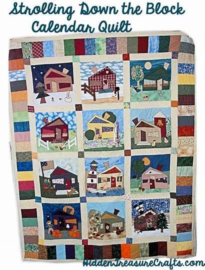 Quilt Block Calendar Strolling Down