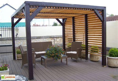 prix cuisine 12m2 pergola ombra avec lames orientables côté et toit en bois
