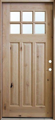 craftsman  lite knotty alder wood entry front door cheap basement remodel basement