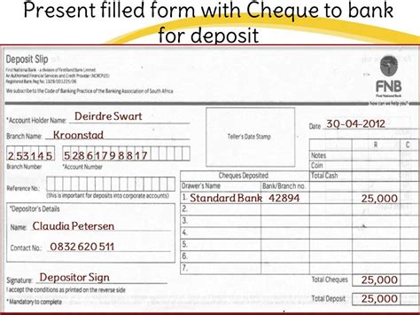 how to fill out a deposit ticket sa how to fill fnb or national bank deposit slip