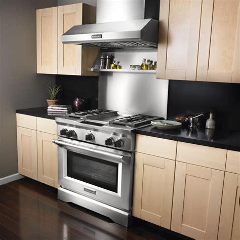 kitchen aid 36 range kitchenaid kxw9736yss 36 quot wall mount chimney range
