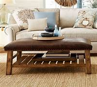 coffee table ottoman Caden Leather Rectangular Ottoman | Pottery Barn AU