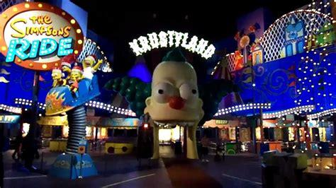 simpsons ride grinchmas entrance night  hd universal