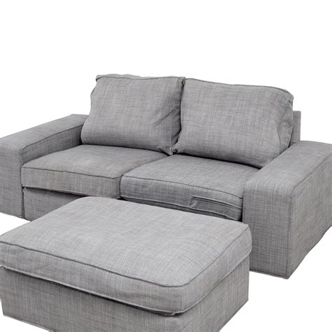 Ikea Sofa Füße by 64 Ikea Ikea Kivik Gray Sofa And Ottoman Sofas