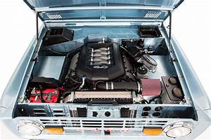 Classic Ford Broncos Engine Compartment