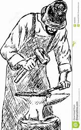 Blacksmith Fabbro Smid Heavy Schmied sketch template