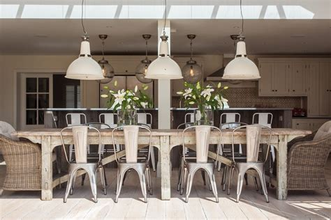 refurbished tables dining room shabby chic style