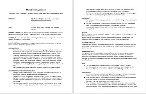 license agreement template microsoft word templates