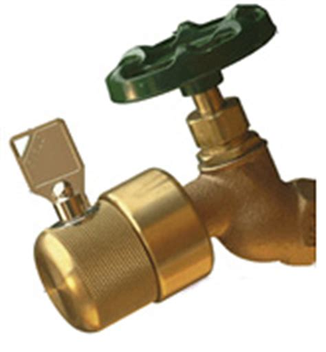 outside faucet cover lock hosebibb faucet locks help prevent water theft