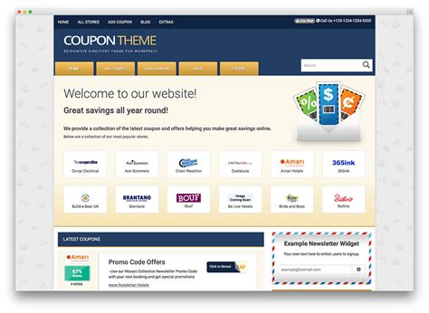 Website Promotion by 15 Best Coupon Themes And Plugins 2017 Colorlib