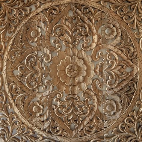 buy hand carved wall panel  bali modern wooden