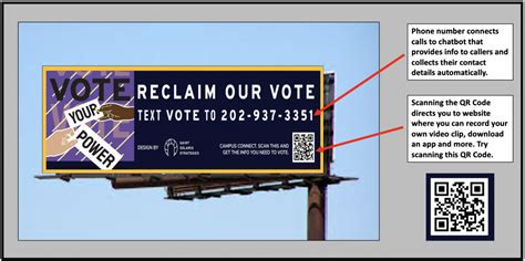 vote billboard poll workers become uses relational organizing millennials encourage campaign supporters apps
