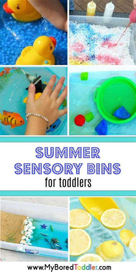 summer sensory bins  toddlers pinterest  bored toddler