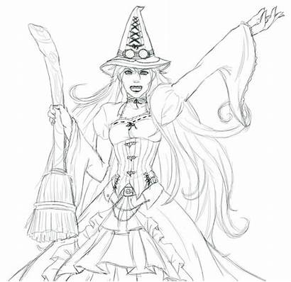 Wicked Elphaba Witch Coloring Pages Drawing Deviantart