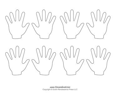 blank hand template printables handprint templates
