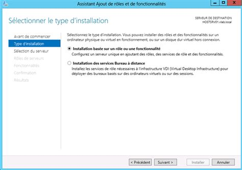 service bureau à distance windows server 2012 installation du rôle de