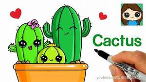 How to Draw Cactus Easy and Cute - YouTube