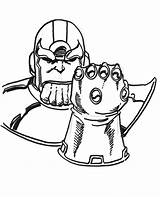 Thanos Coloring Infinity Pages Gauntlet Drawing Printable Marvel Disney Print Adults Drawings Comics sketch template