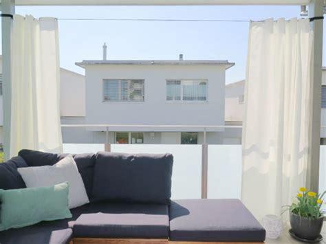 Sonnenschutz Vorhang Balkon by Outdoor Vorhang Santorini 138cm Breit Fertigvorhang Weiss