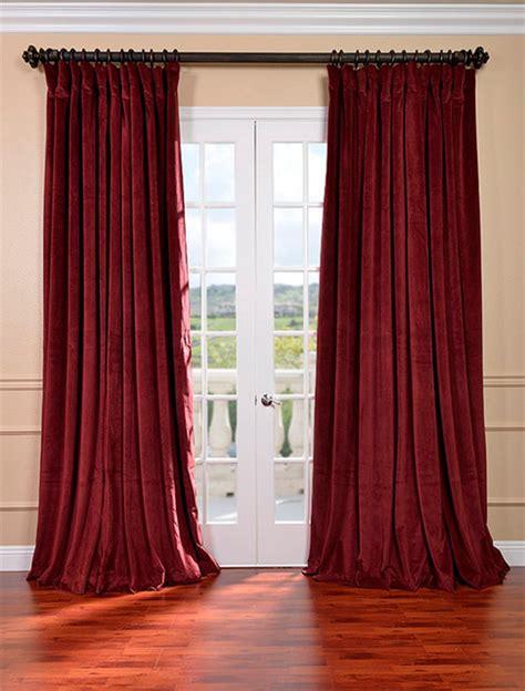 burgundy blackout curtains signature burgundy wide velvet blackout pole pocket