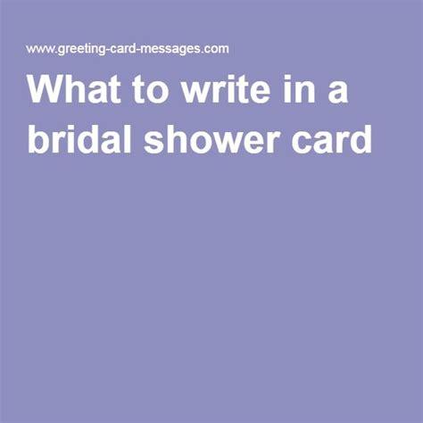 write   bridal shower card wedding shower