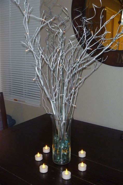 my under 10 diy manzanita centerpieces