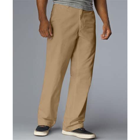 dockers  classic fit soft khaki flat front pants