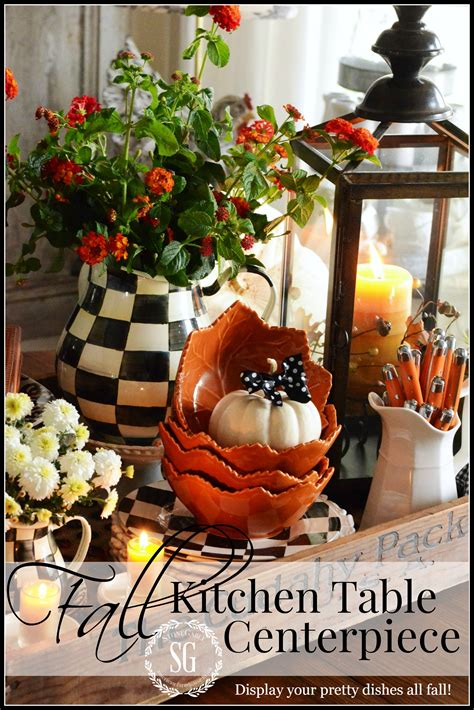 Fall Kitchen Table Centerpiece Stonegable