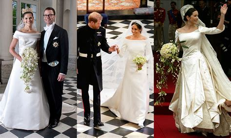 Markle Wedding Dress : Meghan Markle, Princess Mary And Princess Victoria's