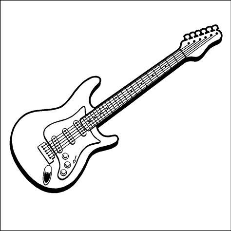 guitar coloring pages kidsuki