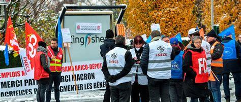 brico depot siege social castorama les salariés manifestent contre une