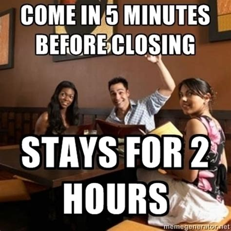 Funny Restaurant Memes - funny quotes about rude customers quotesgram