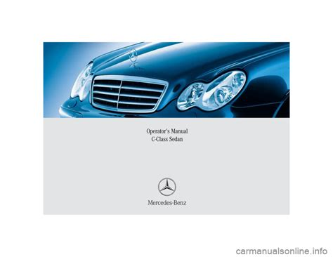 auto repair manual online 2005 mercedes benz c mercedes benz c240 2005 w203 owner s manual