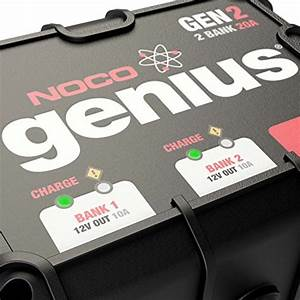 NOCO Genius GEN2 20 Amp 2-Bank Waterproof Smart On-Board ...