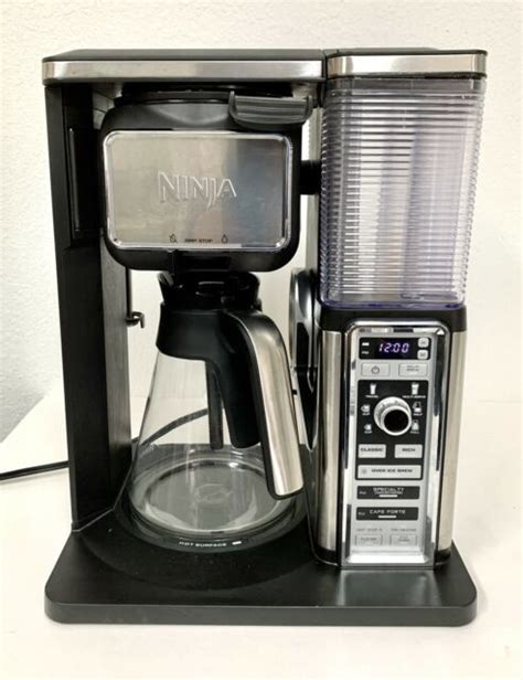 Other columns contain a description of the cause of the. Ninja CF091 10-Cup Coffee Bar Glass Carafe System for sale ...
