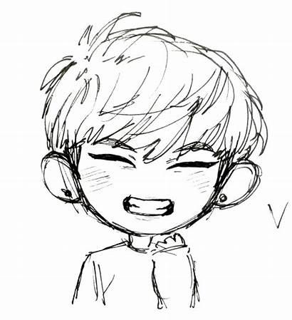 Bts Easy Drawing Chibi Drawings Sketches Taehyung