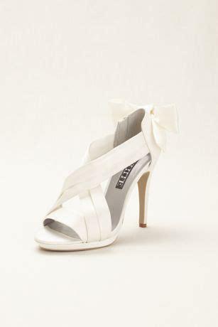 glamorous white  vera wang satin platform sandal