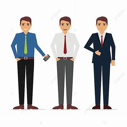 Businessman Office Character Illustration Outfit Vector Transparent
