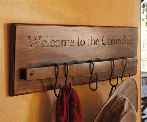 hang  wine stave coat rack google search woodworking